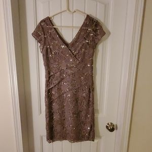 Cocoa Cocktail Dress with Sequins